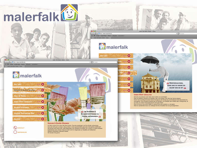 Maler Falk // Logo Modifizierung, Corporate Design Web