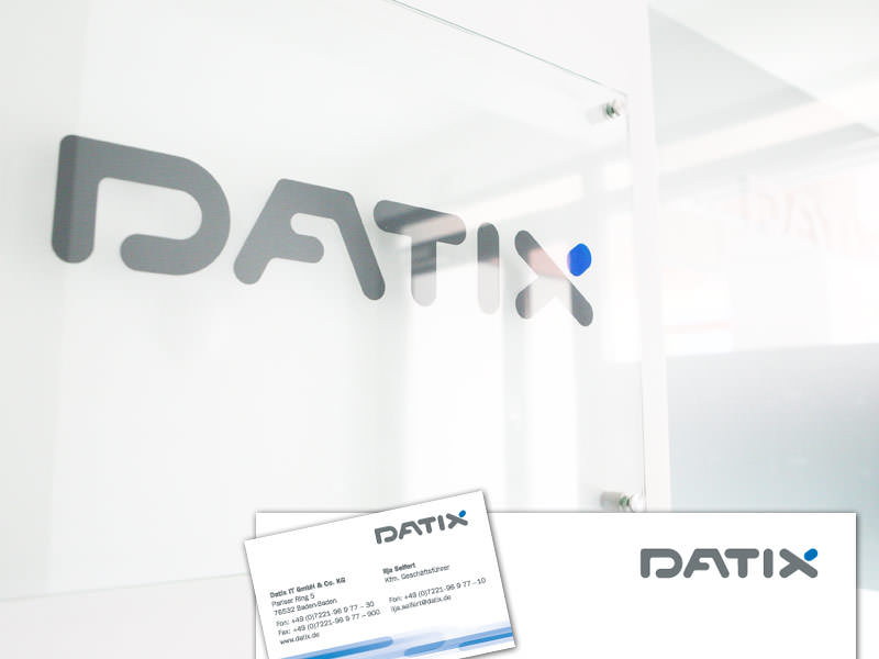 Datix IT, IT-Loesungen // Logo, Geschaeftsausstattung, Corporate Design