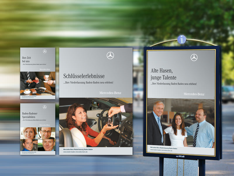 Mercedes-Benz Niederlassung Baden-Baden // City Light Poster Kampagne